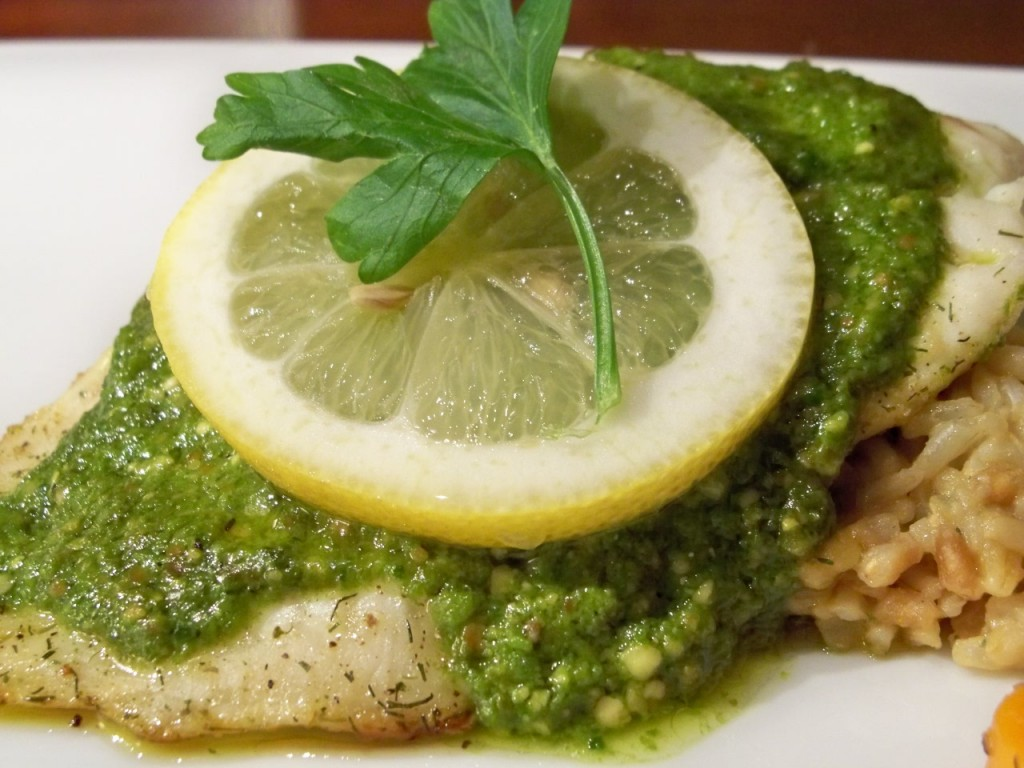 Pesto Fish In 15 Minutes Gourmet Day To Day