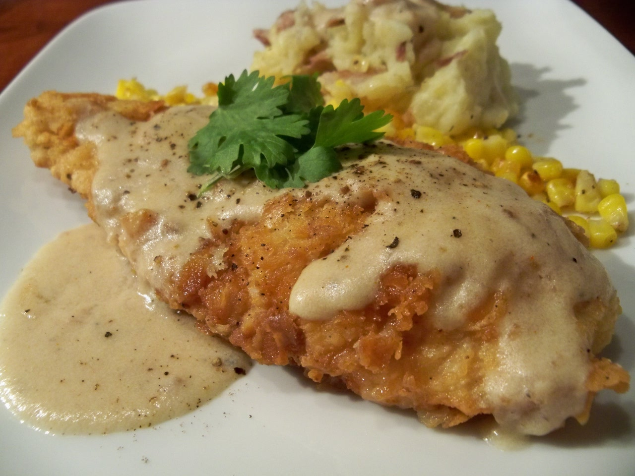 Chicken Fried Chicken With White Pepper Gravy – Gourmet: Day To Day
