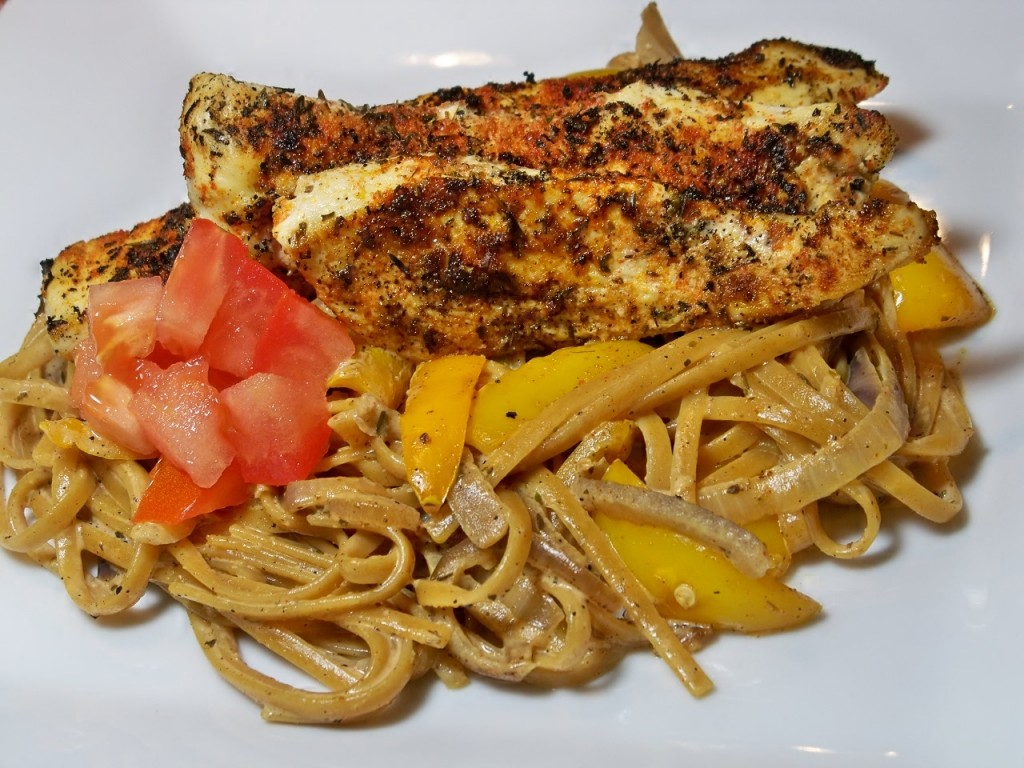 Cajun Chicken Pasta Blackening Seasoning 039 1024x768 Blackened Cajun Chicken Pasta