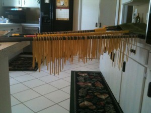 pasta broom stick 300x225 Fresh Whole Wheat Pasta