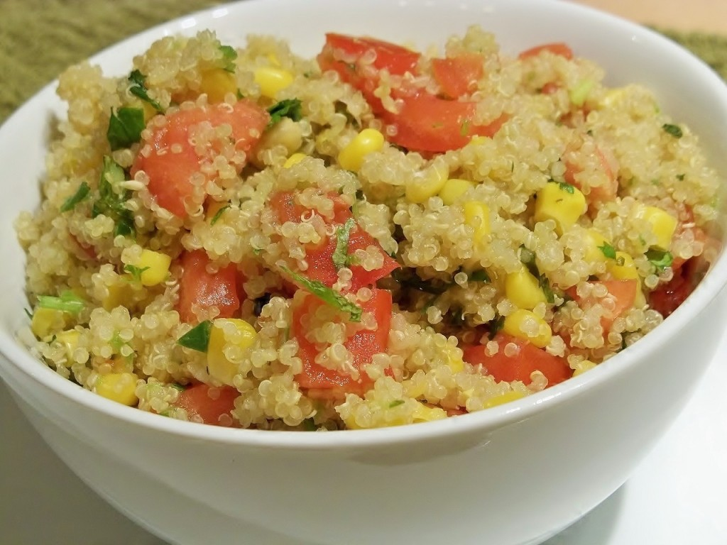 quinoa and fish 022 1024x768 Quinoa Pilaf with Corn and Jalapenos